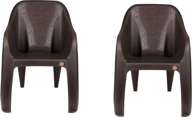 cello Dynamo Cafeteria Set Of 2 Chair,Brown Plastic Cafeteria Chair
