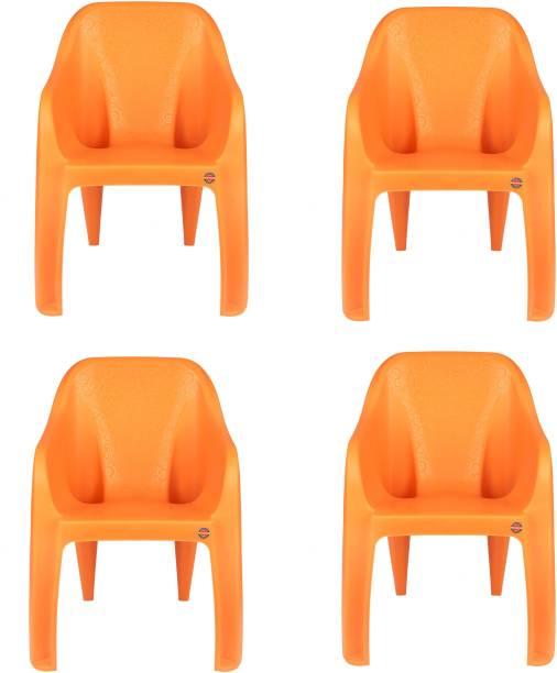 cello Dynamo Set Of 4 Chair,Orange Plastic Cafeteria Chair