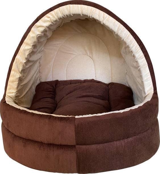Dogerman Soft Velvet Cave House For Cats Little Dogs & Pets M Pet Bed