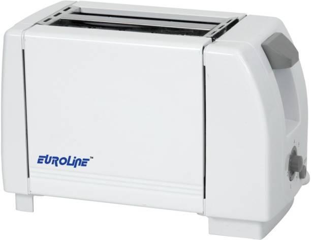 EUROLINE EL-830 White Grey Toaster 750 W Pop Up Toaster