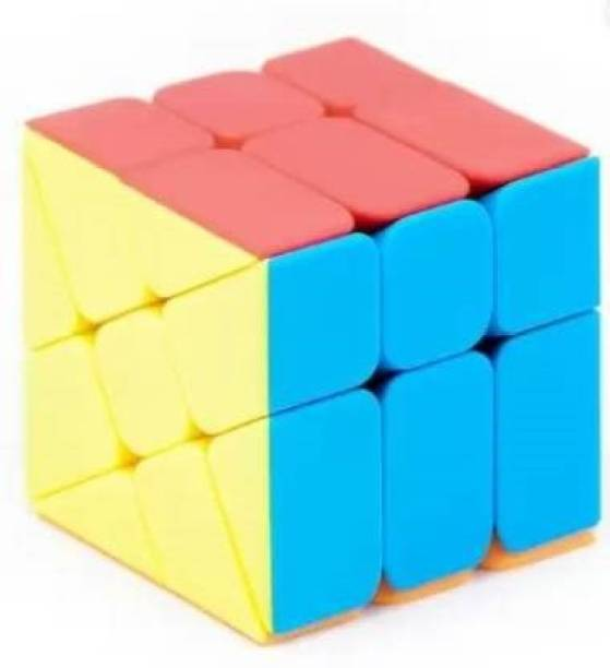 Miss & Chief Good quality Windmill Cube 3x3 Shape Mod Twisty Puzzle Stickerless Cube (1 Pieces)