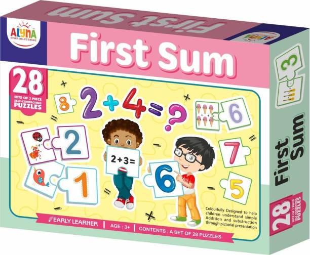 Ankit FIRST SUM PUZZLE|Puzzle Games /Toys For Kids Learning /Education For 3+