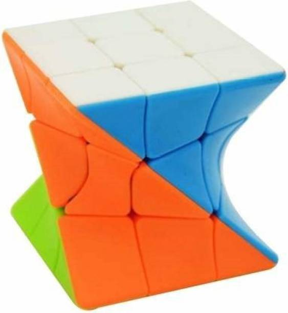 Miss & Chief High quality 3x3x3 Twisted Magic Cube, Stickerless Twister Cube (1 Pieces)