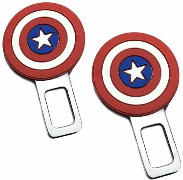 carempire Alarm Stopper Captain America Design Null Insert Seat Belt Buckle Clip for All Cars Seat Belt Extender Clip