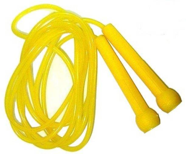 Street Brand Yellow Pencil Skipping-Rope for Men, Women, Weight Loss, Best in Fitness, Exercise Freestyle Skipping Rope