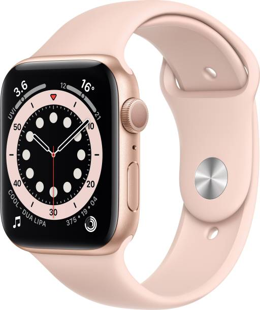 APPLE Watch Series 6 GPS 44 mm Gold Aluminium Case with Pink Sand Sport Band