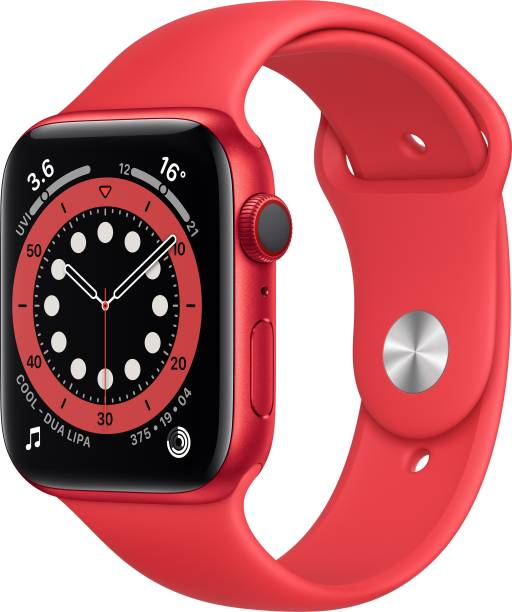 APPLE Watch Series 6 GPS + Cellular 44 mm Red Aluminium Case with Product (Red) Sport Band