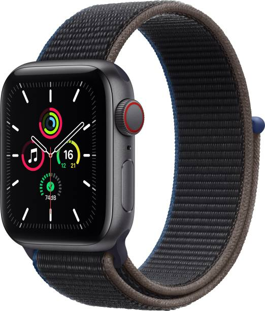 APPLE Watch SE GPS + Cellular 40 mm Space Grey Aluminium Case with Charcoal Sport Loop