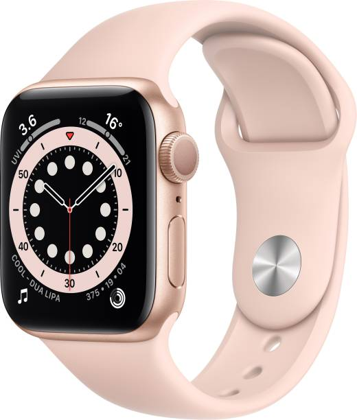 APPLE Watch Series 6 GPS 40 mm Gold Aluminium Case with Pink Sand Sport Band