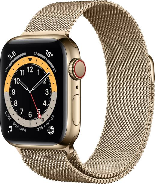 APPLE Watch Series 6 GPS + Cellular 40 mm Gold Stainless Steel Case with Gold Milanese Loop