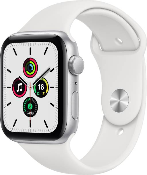 APPLE Watch SE GPS 44 mm Silver Aluminium Case with White Sport Band