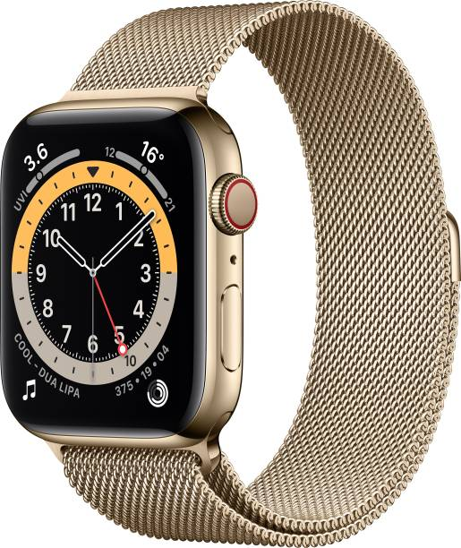 APPLE Watch Series 6 GPS + Cellular 44 mm Gold Stainless Steel Case with Gold Milanese Loop