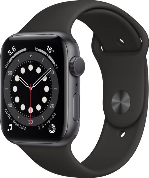 APPLE Watch Series 6 GPS 44 mm Space Grey Aluminium Case with Black Sport Band