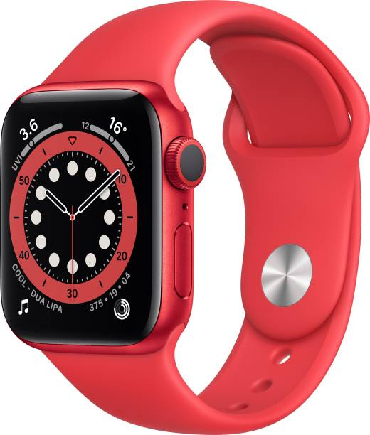 APPLE Watch Series 6 GPS 40 mm Red Aluminium Case with Product (Red) Sport Band