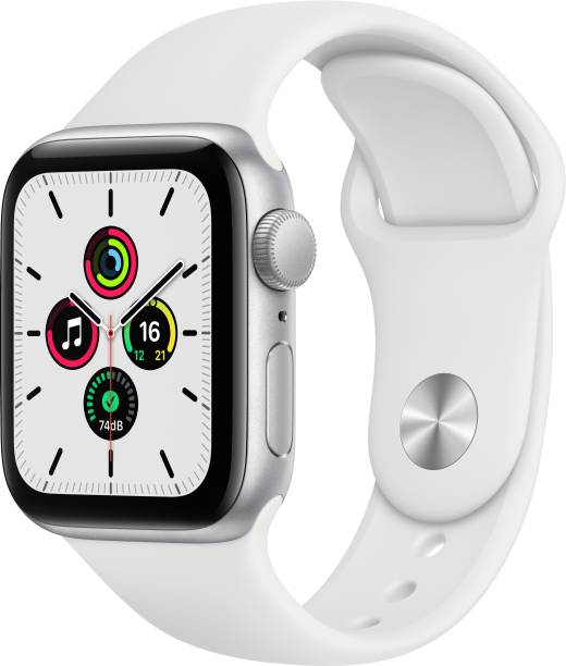APPLE Watch SE GPS 40 mm Silver Aluminium Case with White Sport Band