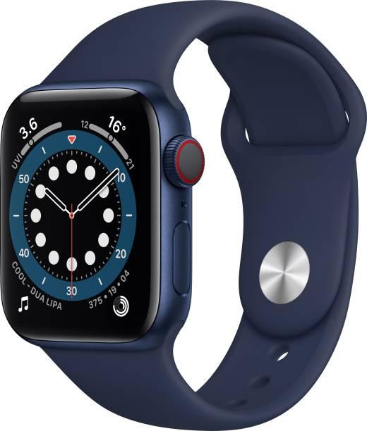 APPLE Watch Series 6 GPS + Cellular 40 mm Blue Aluminium Case with Deep Navy Sport Band