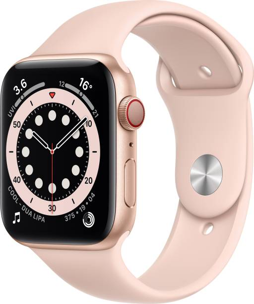 APPLE Watch Series 6 GPS + Cellular 44 mm Gold Aluminium Case with Pink Sand Sport Band