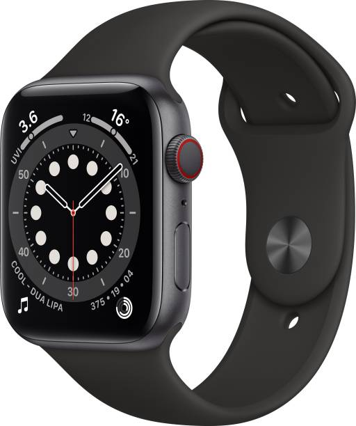 APPLE Watch Series 6 GPS + Cellular 44 mm Space Grey Aluminium Case with Black Sport Band