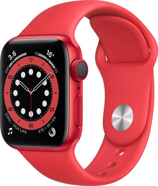 APPLE Watch Series 6 GPS + Cellular 40 mm Red Aluminium Case With Product (Red) Sport Band