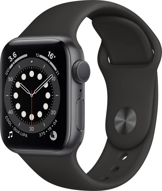 APPLE Watch Series 6 GPS 40 mm Space Grey Aluminium Case with Black Sport Band