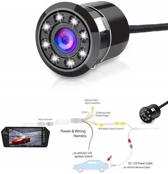 Auto Hub Night Vision Rear Camera Vehicle Camera System