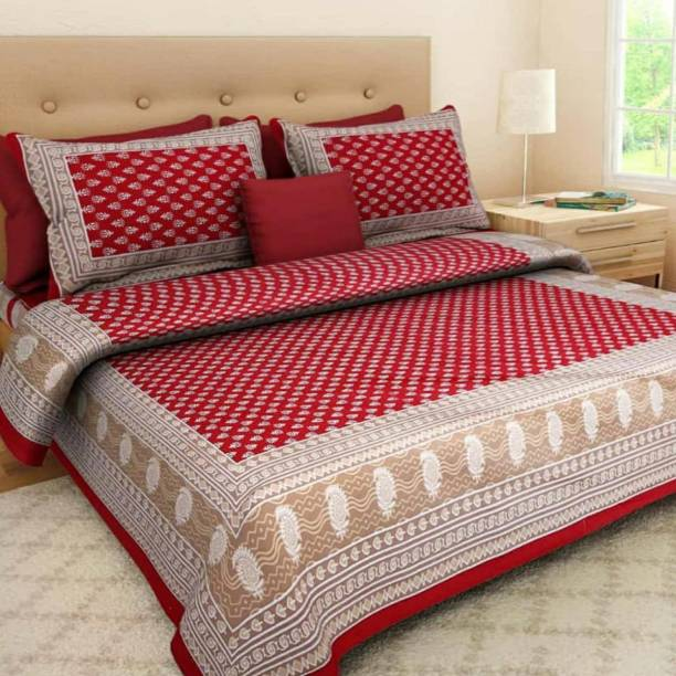 Diva Collection 150 TC Cotton Double Checkered Bedsheet