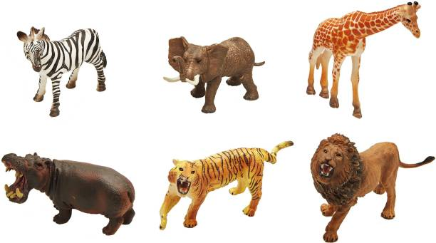 Miss & Chief 5 inch Wild animal set of 6pcs/non-phthalate