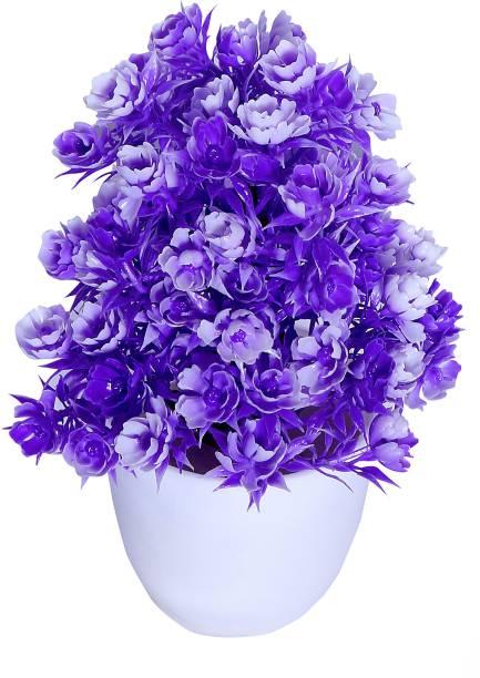 NERAPI Purple Wild Flower Artificial Flower  with Pot