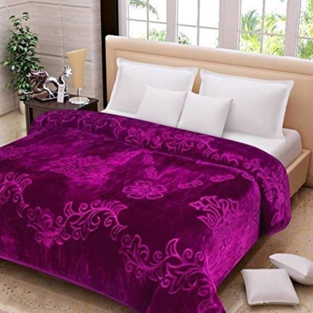 WooWoo Floral Single Mink Blanket