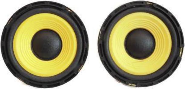 lenctus 5'' inch CAR woofer Speaker 4ohm 50w HI-FI Speaker Sound Bass (Yellow) Subwoofer