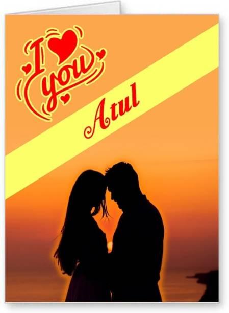 Midas Craft I Love You Atul ….01 Gift Romantic Message Greeting Card