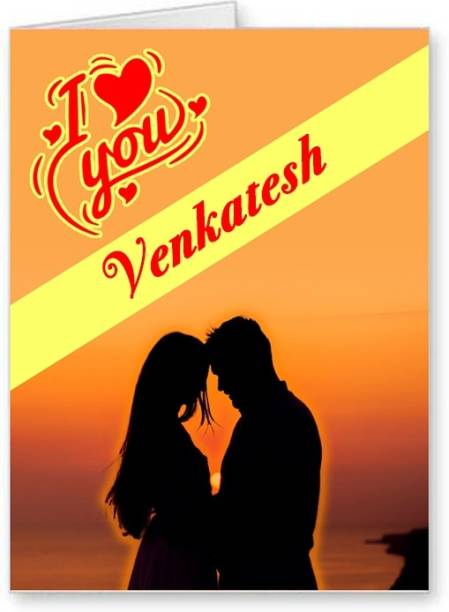 Midas Craft I Love You Venkatesh ….01 Gift Romantic Message Greeting Card