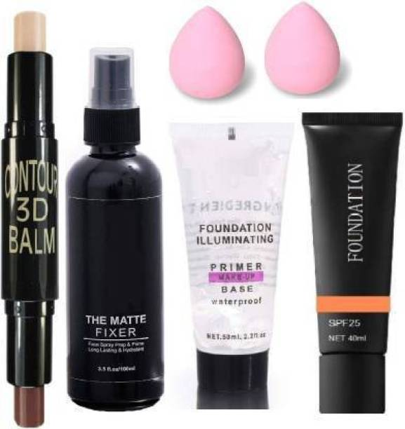 YADUL's REVOLUTIONARY MAKEUP 3D BALM STICK WITH ALL GLAMOROUS GLOW SKIN FACE MAKEUP COMBO (6 Items in the set)