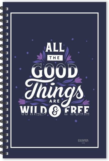 ESCAPER Good Things (Ruled - A5 Size - 8.5 x 5.5 inches) Designer Motivational Diary, Motivational Quotes Diary A5 Diary Ruled 160 Pages