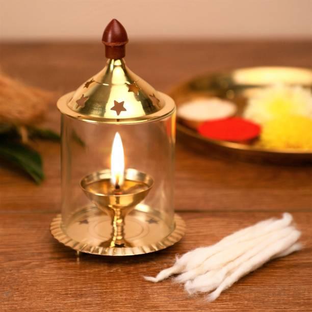 Flipkart SmartBuy Brass, Glass Table Diya