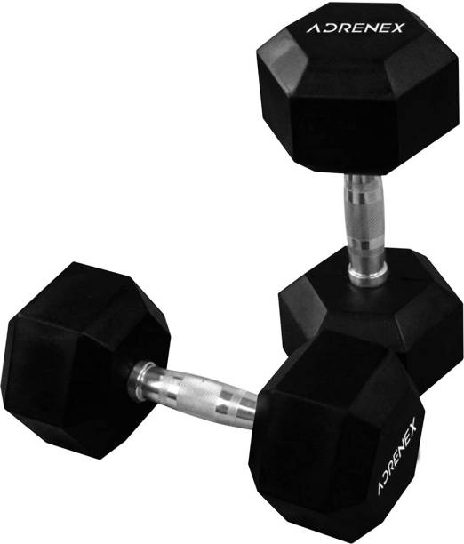 Adrenex by Flipkart Solid Rubber Fixed Weight Dumbbell Fixed Weight Dumbbell