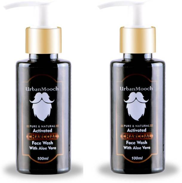 UrbanMooch Activated Charcoal  for Deep Cleansing & Glowing Skin Face Wash