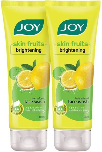 Joy Skin Fruits Brightening Lemon (Pack of 2 x100ml) Face Wash