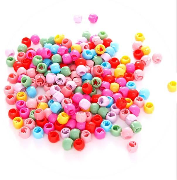 Kidzoo Girls 100pcs Hair Beads For Stylish Hair For Kids & Girls Women Hair Tie (Multicolour) Hair Clip