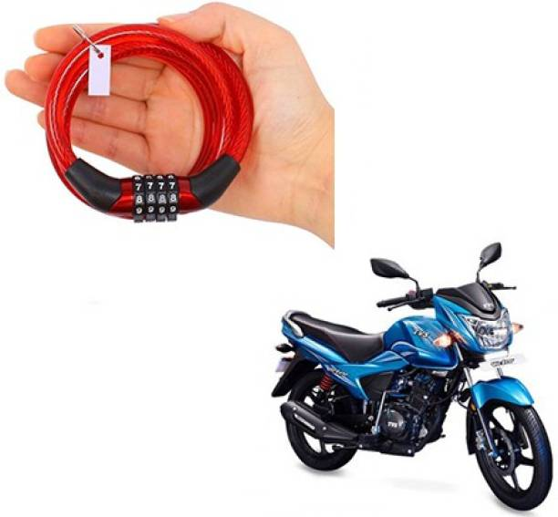 Cartwheel Plastic, Steel Combination Lock For Helmet