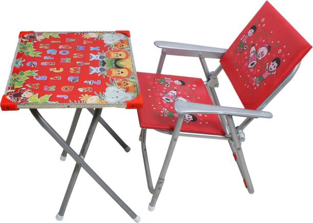 KANISHKA CREATIONS Kids beautiful, Comfortable and attractive foldable Table & Chair set Metal Desk Chair