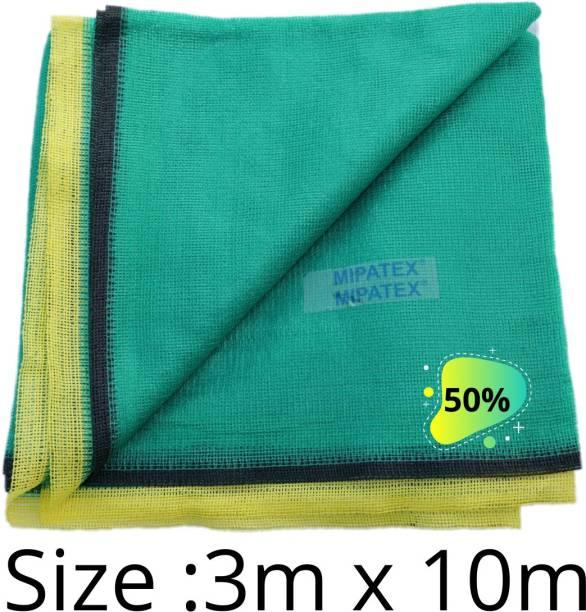 Mipatex 50% Green Shade Net 3m x 10m, Multi-Purpose Greenhouse Garden Nursery Shading Cloth - Blocks Sun Light Dust, Protect Flowers and Plants Portable Green House