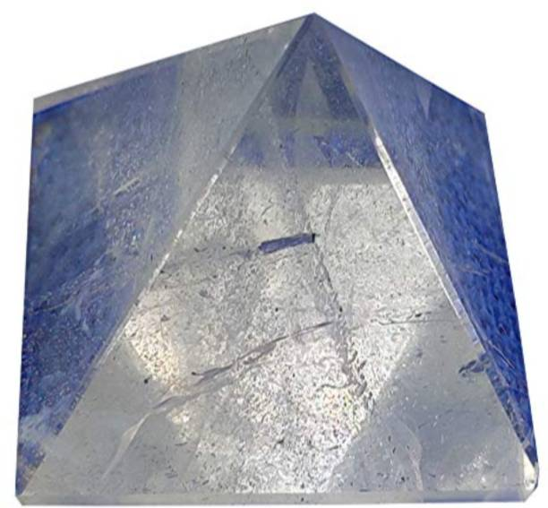 PlusValue Natural Crystal Quartz Pyramid Vastu Healing Reiki Pyramid Decorative Showpiece  -  5 cm