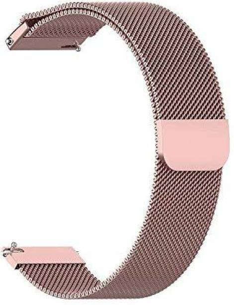 TECHWIND 20MM METAL WATCH STRAP [MAGNETIC CLOSURE] FOR SAM GALAXY WATCH ACTIVE/ACTIVE 2/LTE (42MM)/AMAZFIT GTS/BIP LITE/HUAWEI GT2/MANY OTHER 20 MM WATCHES ROSE GOLD Smart Watch Strap