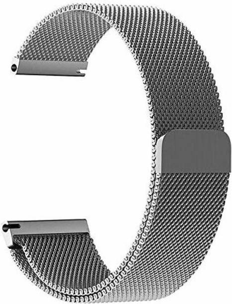 gettechgo Magnetic Milanese 20mm Band Strap Compatible with Samsung Galaxy Watch 3 41mm, Galaxy 42mm, Galaxy Active 40mm, Active 2 (40-44mm) / AmazeFit BIP/BIP Lite/AmazeFit GTS, Amazefit GTR (42mm) / VivoActive 3 / RealMe Classic, Fashion & Smartwatches with 20mm Lugs Smart Watch Strap