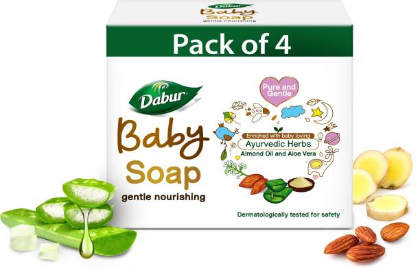 Dabur Baby Soap Contains Aloe Vera & Almond Oil   No Parabens & Phthalates