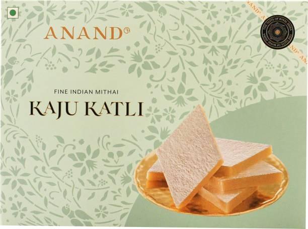 Anand Sweets Kaju Katli (Kaju Burfi) - Premium Cashew Fudge Made with Plenty of Cashews Box