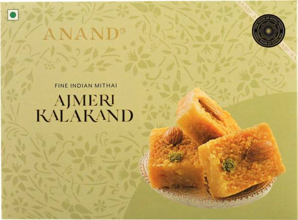 Anand Sweets Ajmeri Kalakand - Slow Cooked Pure Ghee Milk Cakes Box