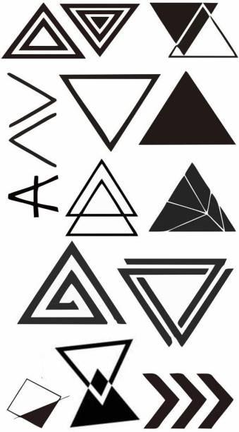 voorkoms Triangle Tattoo Waterproof Men and Women Temporary Body Tattoo