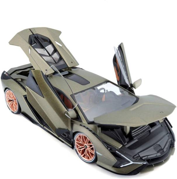 latest radhe Lamborghini Sian FKP 37 Green Metallic with Copper Wheels 1:32 Diecast Model Car toy for kids